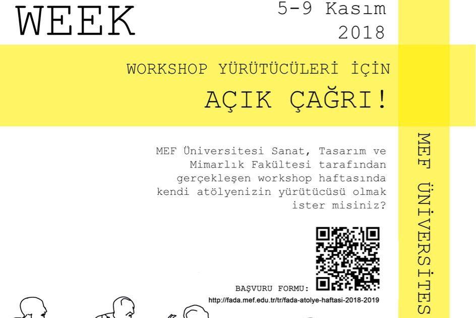 FADA Workshop Haftası Açık Çağrı