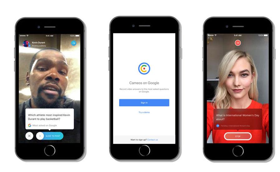 Google'un Yeni Uygulaması: Cameos